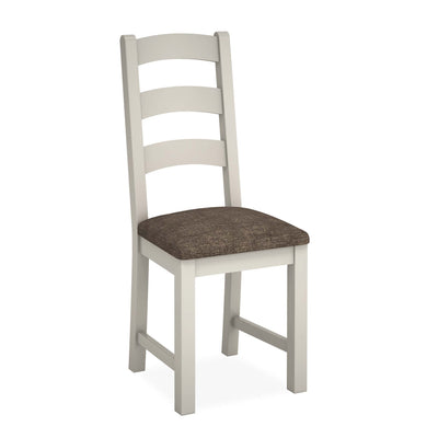 Dorset Stone Grey Ladder Back Dining Chair by Roseland Furniture