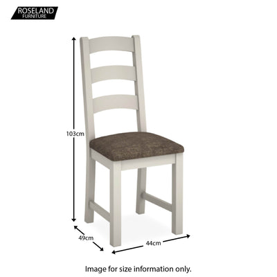 Dorset Stone Grey Ladder Back Dining Chair size guide