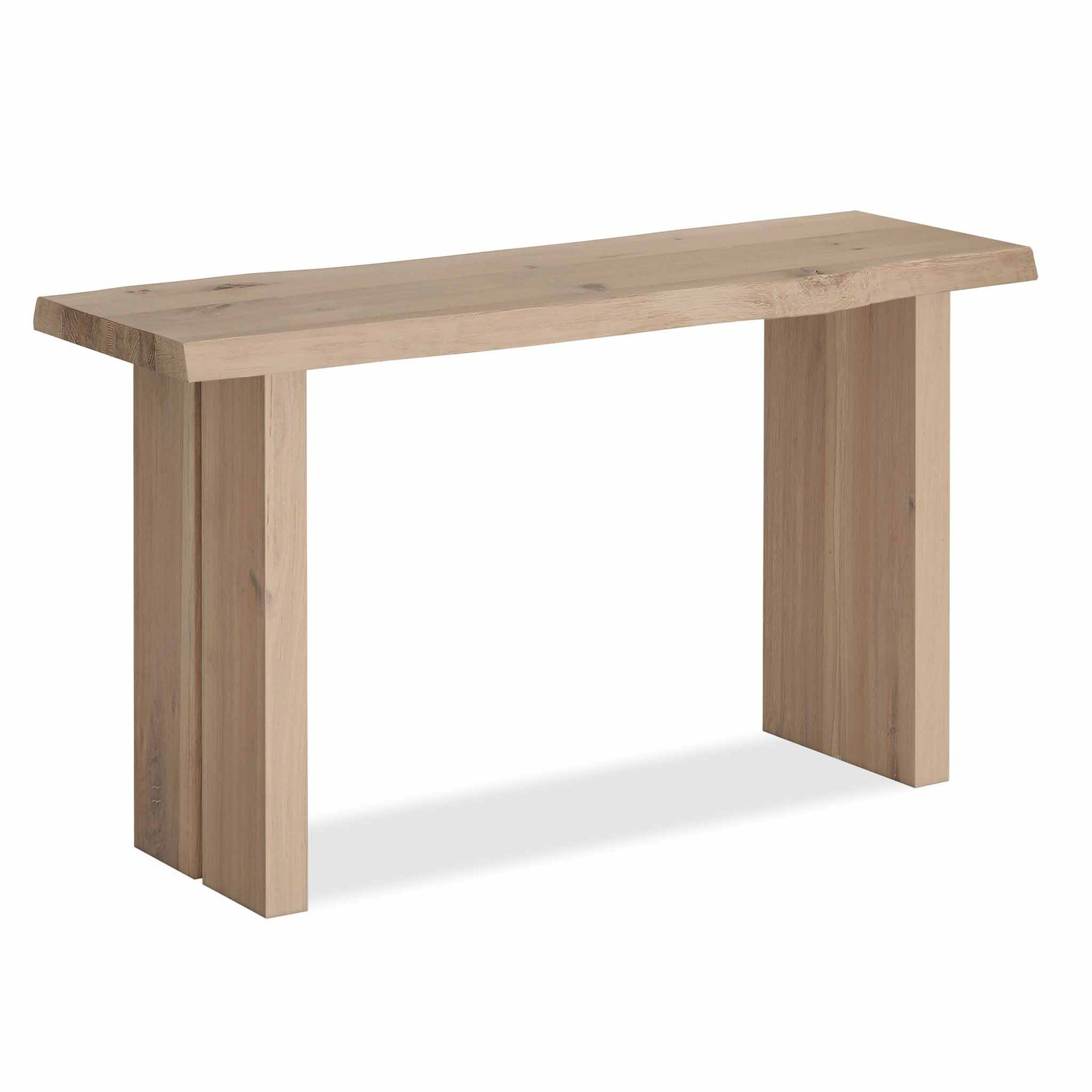 Oak Mill Console Table - Wood Base - White Oil by Roseland Furniture