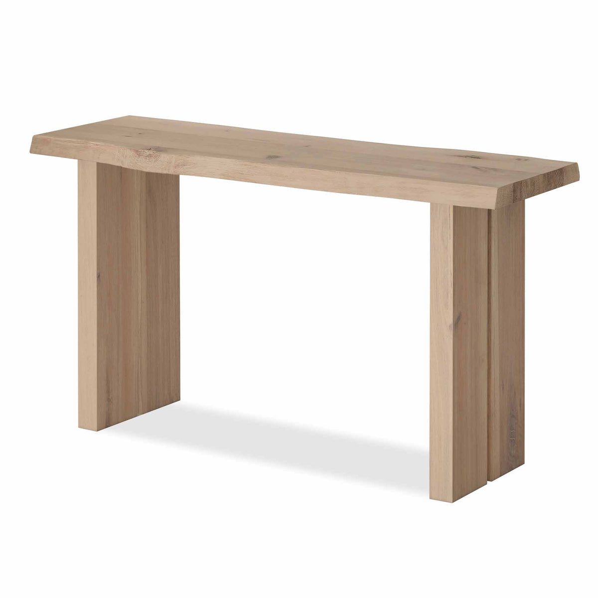 Oak Mill Console Table - Wood Base - White Oil