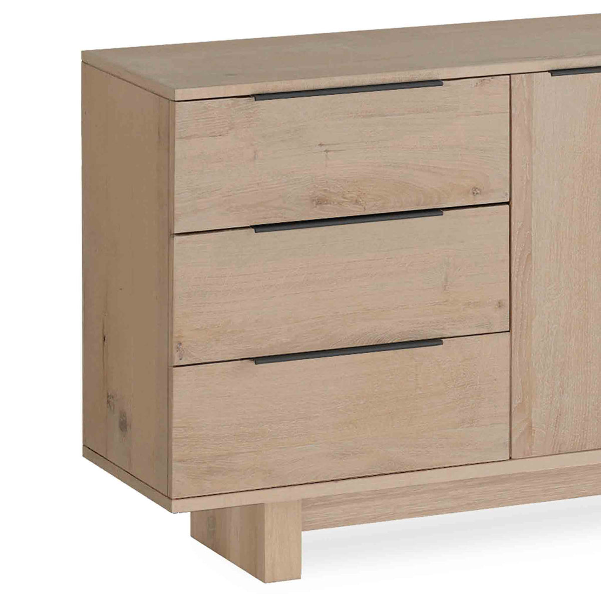 Oak Mill Small Sideboard  - Wood Base - White Oil