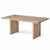Oak Mill 180cm Dining Table - Wood Base - White Oil