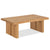 Oak Mill Coffee Table - Wood Base - Waxed Oak by Roseland Furniture
