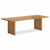 Oak Mill 180cm Dining Table - Wood Base - Waxed Oak by Roseland Furniture