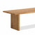 Oak Mill 180cm Dining Table - Wood Base - Waxed Oak