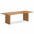 Oak Mill 240cm dining Table - Wood Base - Waxed Oak by Roseland Furniture