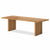 Oak Mill 240cm dining Table - Wood Base - Waxed Oak