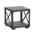 Brooklyn Industrial Grey Lamp Side Table by Roseland Furniture