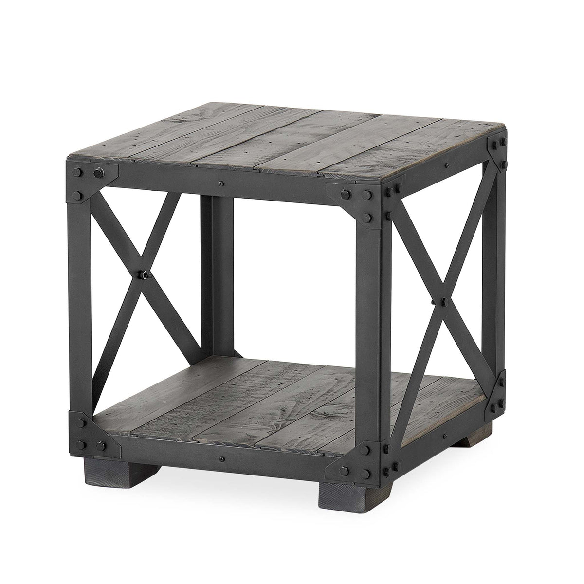 Brooklyn Urban Grey Lamp Side Table