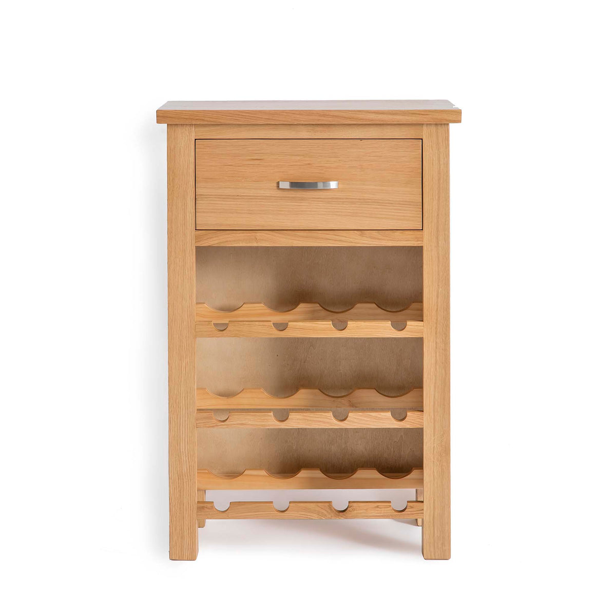 London Oak Wine Cabinet by Roseland Furniture