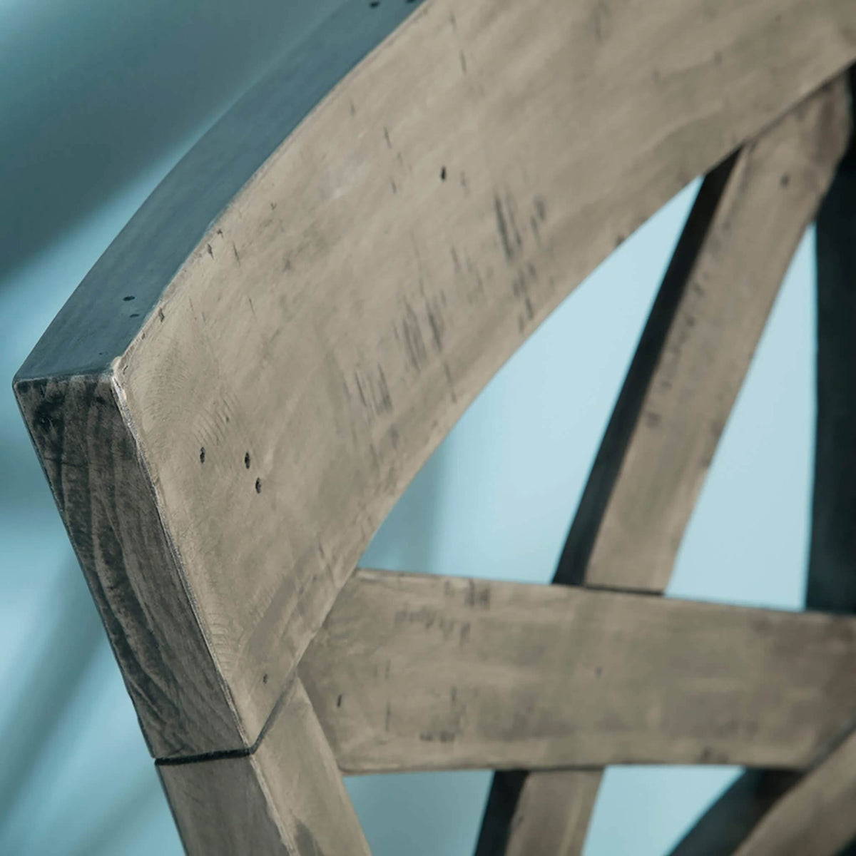 close up of the corner backrest on the Brooklyn Cross Back Bar Stool