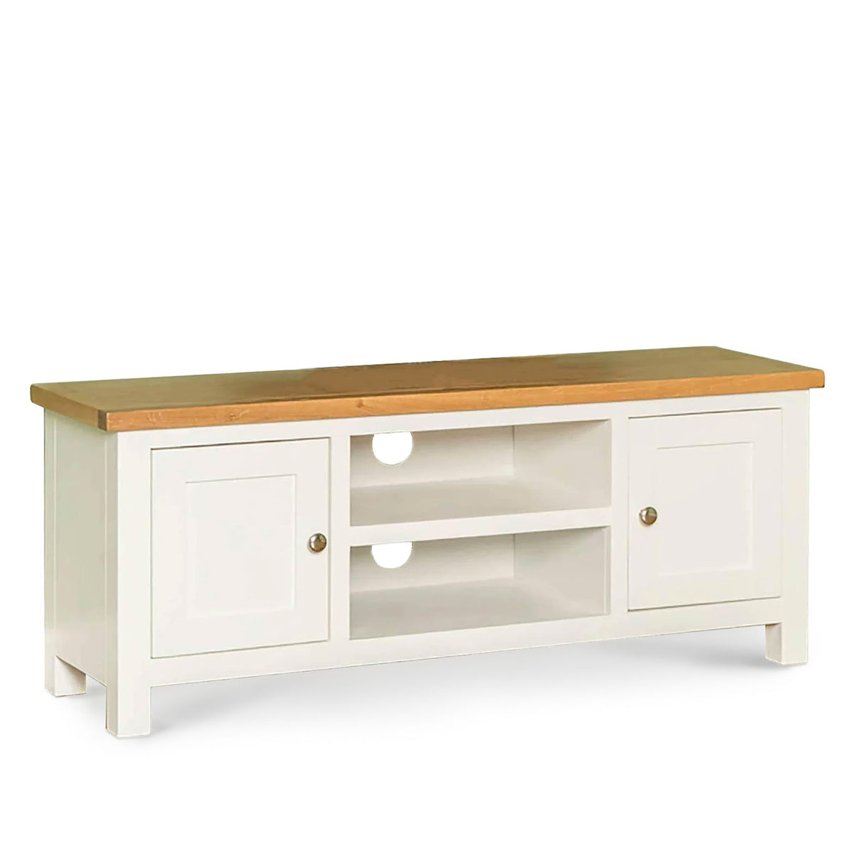 Farrow white 120cm TV Stand Unit by Roseland Furniture