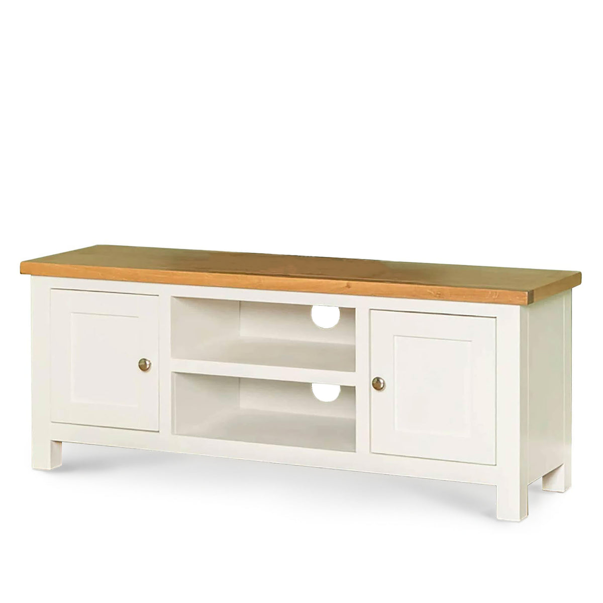 Farrow white 120cm TV Stand  - Side view