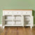 Farrow White Large Sideboard - Lifestyle front view with doors open