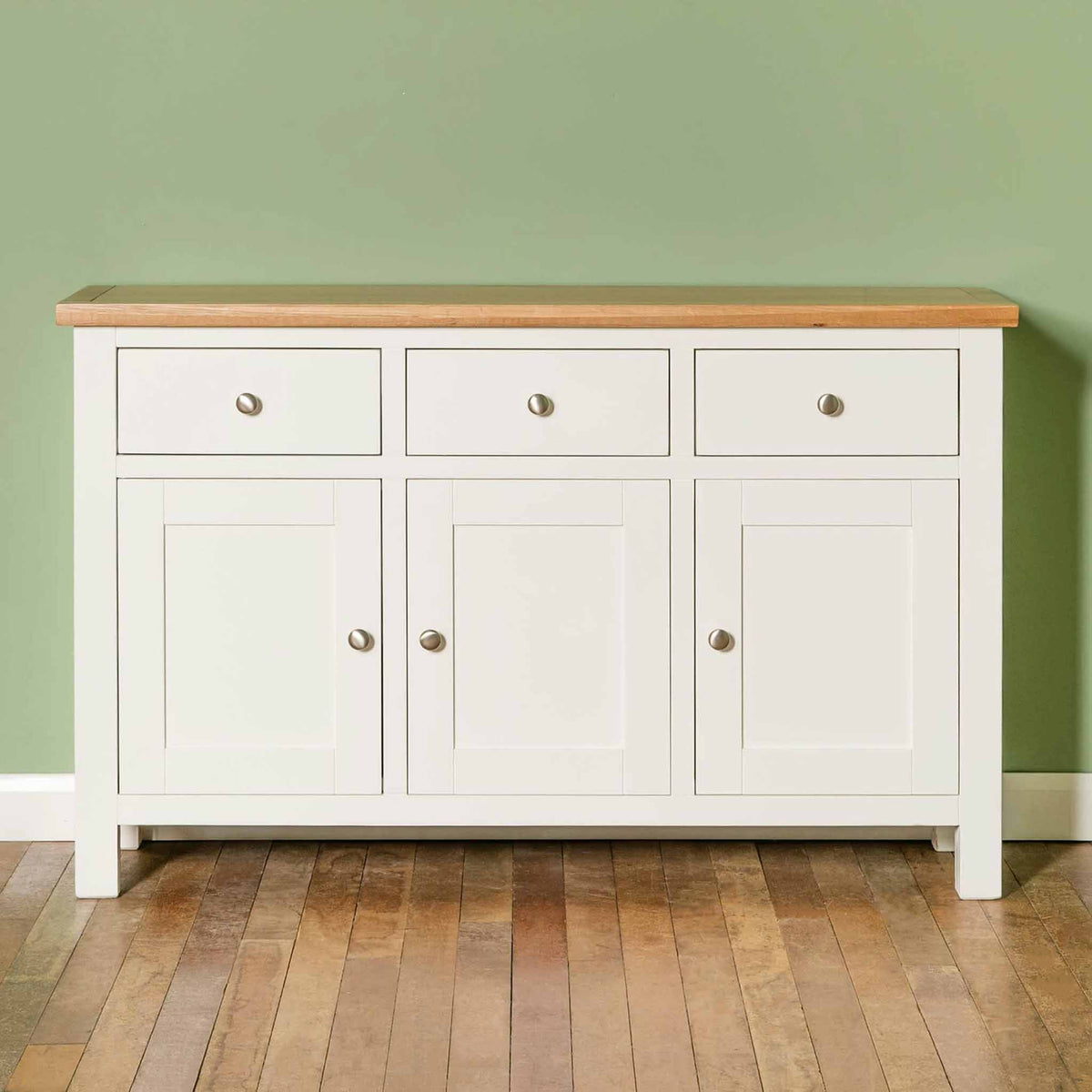 Farrow White Large Sideboard - Lifestyle front view