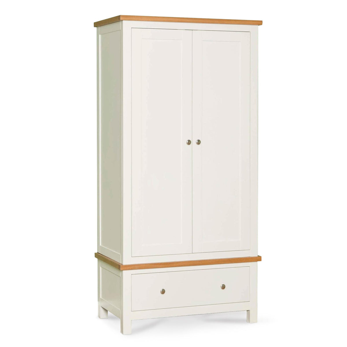 Farrow White Double Wardrobe by Roseland Furniture