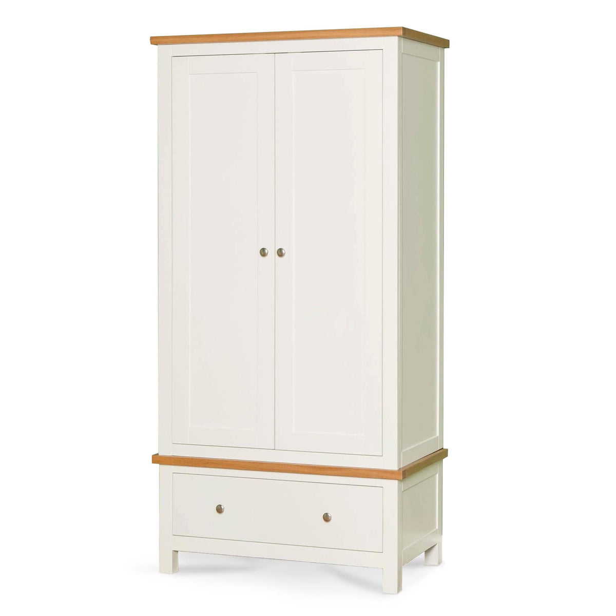 Farrow White Double Wardrobe - Side view