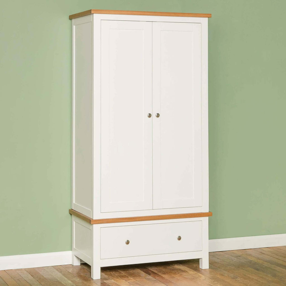 Farrow White Double Wardrobe - Lifestyle side view