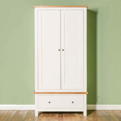 Farrow White Double Wardrobe - Lifestyle front view