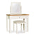 Farrow White Dressing Table Set by Roseland Furniture