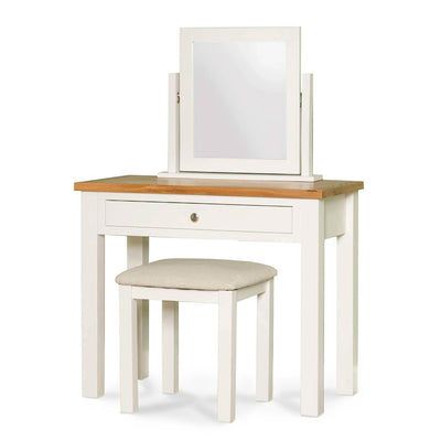 Farrow White Dressing Table Set - Comprising of Dressing Table, Stool and Mirror