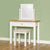 Farrow White Dressing Table Set - Lifestyle side view
