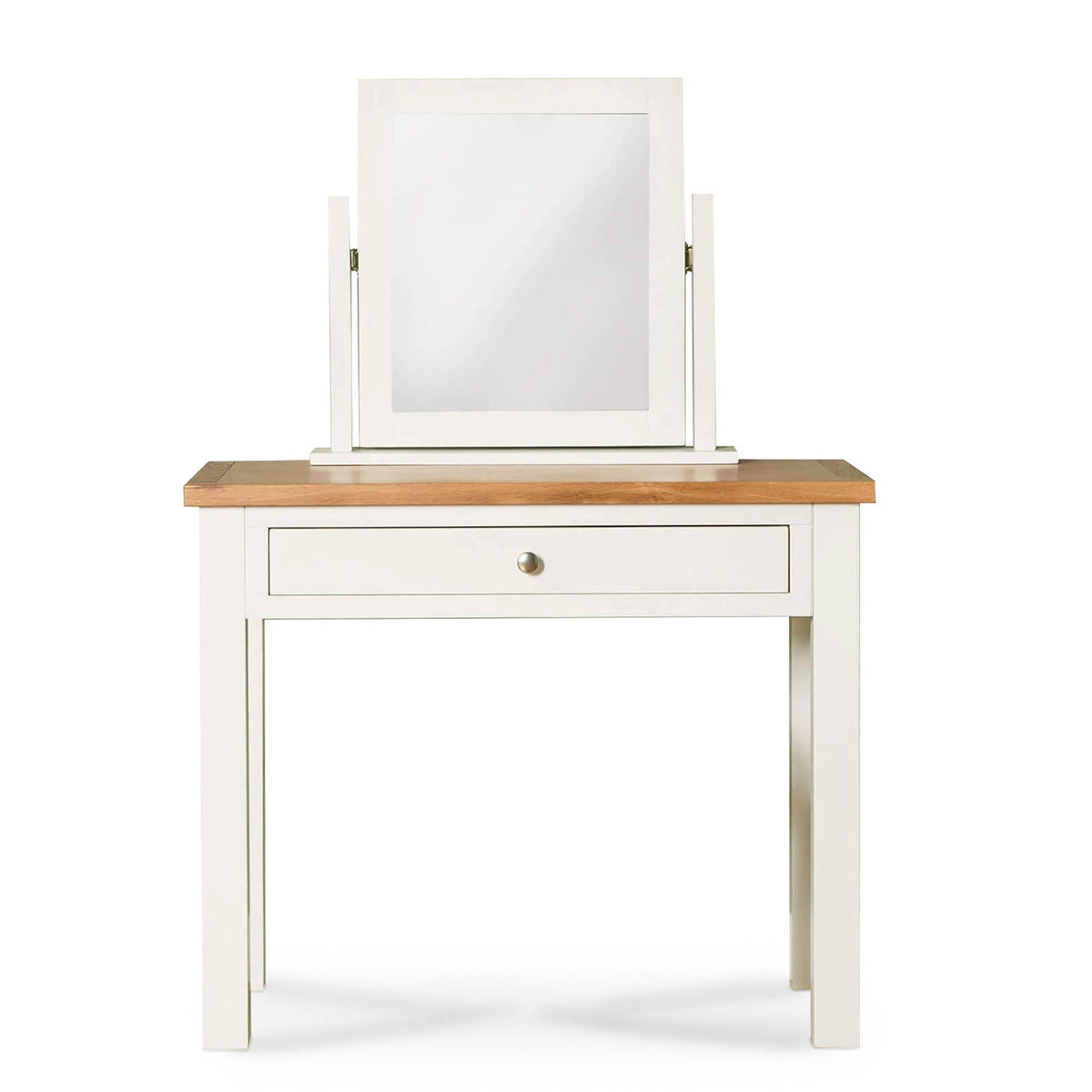 Farrow White Dressing Table Set - Dressing table and mirror front view