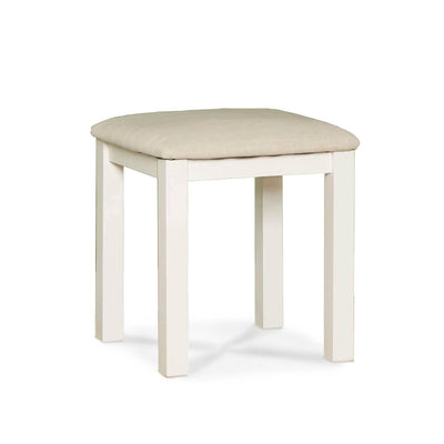 Farrow White Dressing Table Set - Stool close up side view
