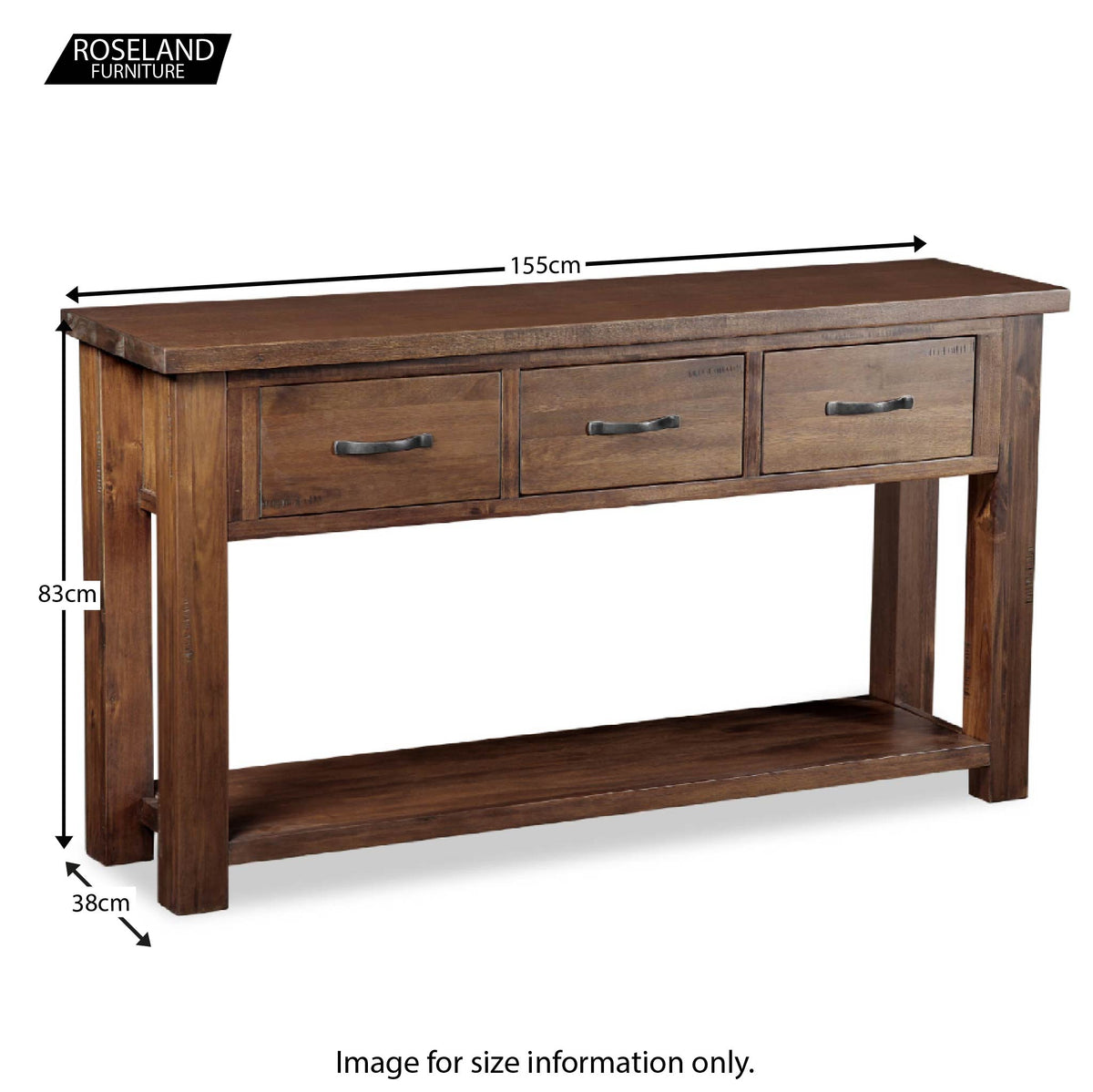 Dimensions - Ladock Console Table