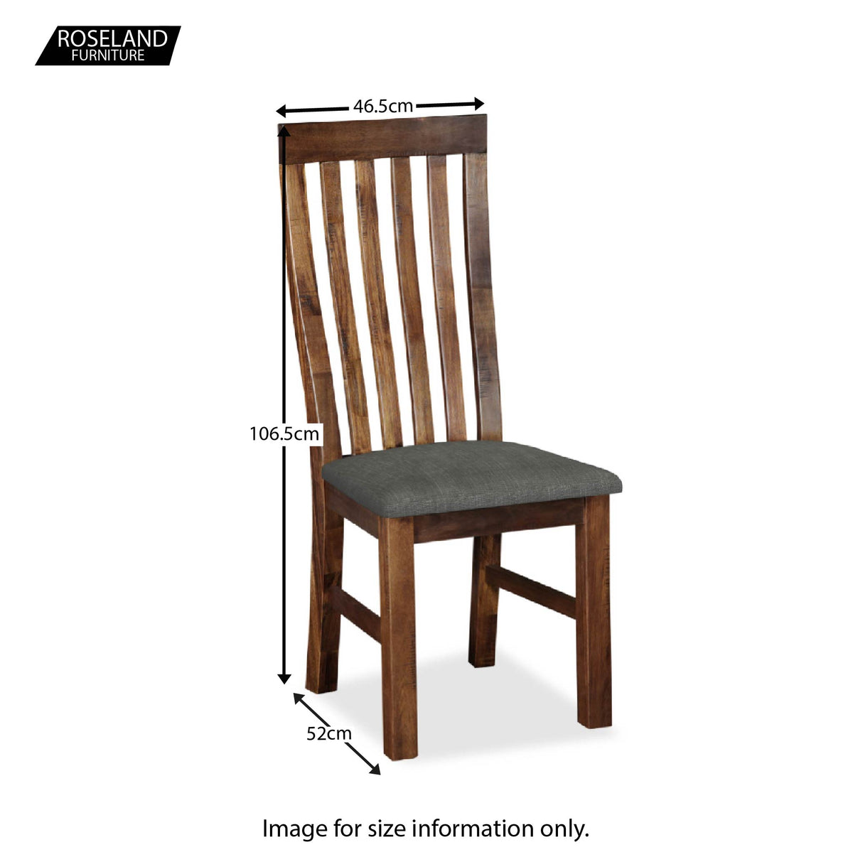 Dimensions - Ladock Dining Chair