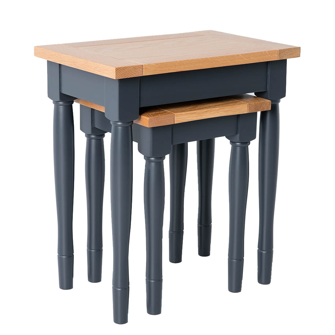 Chichester Charcoal Black Nest of Tables from Roseland Furniture