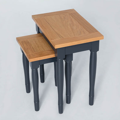 Top view of the Chichester Charcoal Black 2 Nested Tables