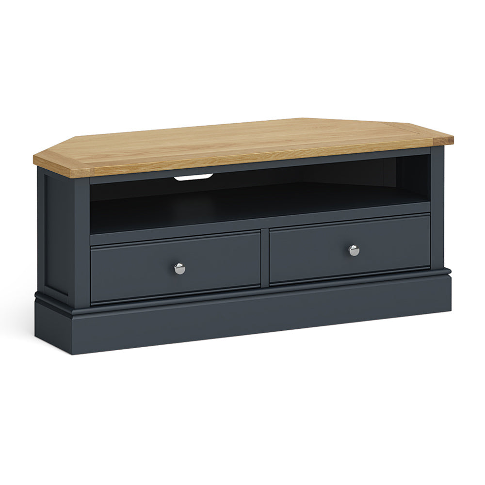 Chichester Corner TV Stand Charcoal by Roseland Furniture