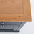 Close up of the oak top on the Chichester Charcoal Small Sideboard