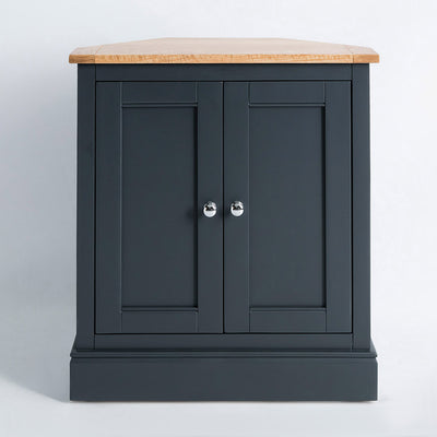 front view of the Chichester Charcoal Black Corner Cupboard