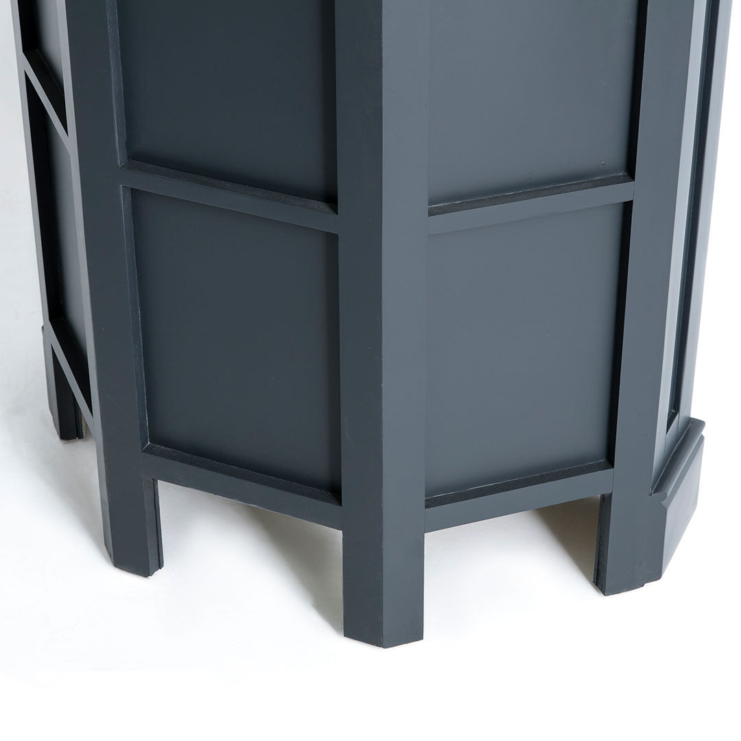 Rear view of the Chichester Charcoal Black Corner Cupboard