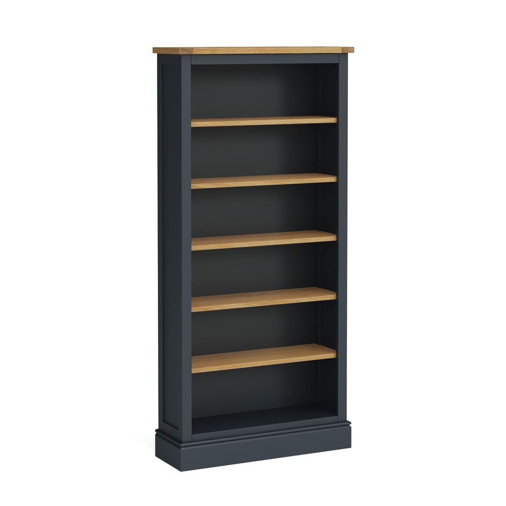 Chichester Large Bookcase in Charcoal by Roseland Furniture
