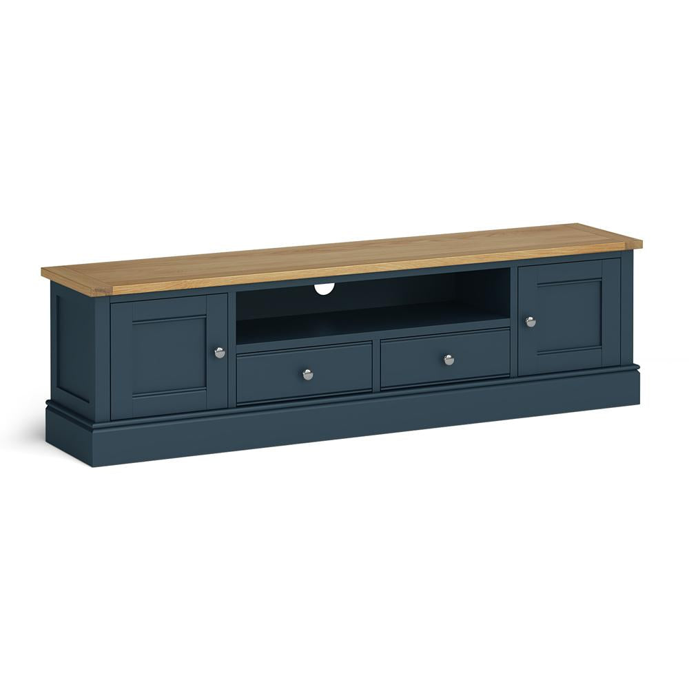 Chichester 180cm TV Stand in Stiffkey Blue by Roseland Furniture