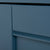 Close up of painted blue bevelled door on the Chichester Stiffkey Blue Mini Cupboard