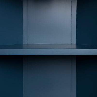 Internal view of the Chichester Stiffkey Blue Corner Cupboard