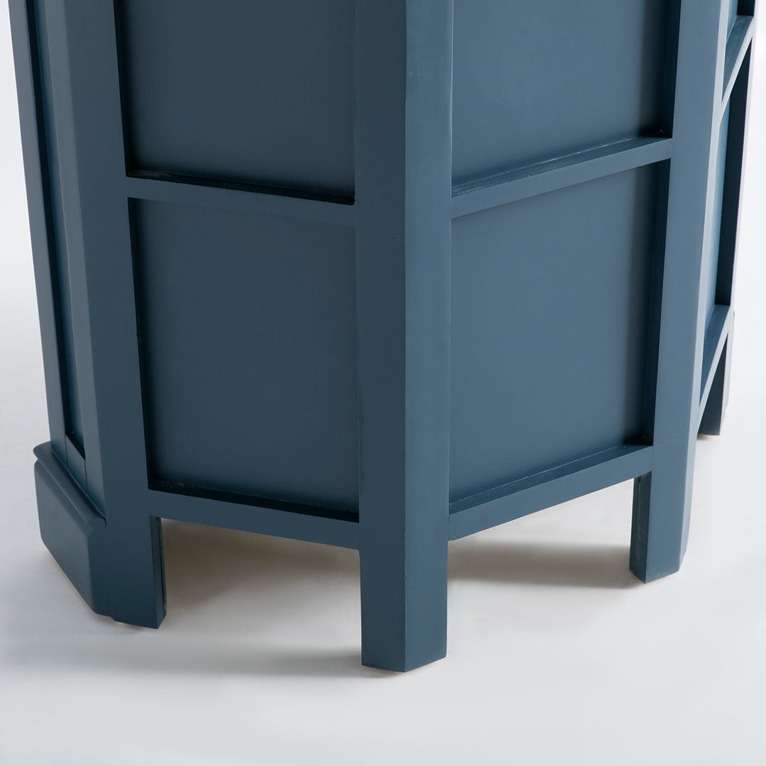 Rear view of the Chichester Stiffkey Blue Corner Cupboard