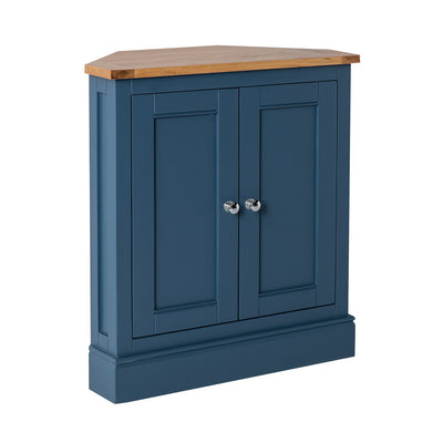 Chichester Stiffkey Blue Corner Cupboard from Roseland Furniture