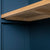 Underside view shelves on the Chichester Stiffkey Blue Grey Low Bookcase