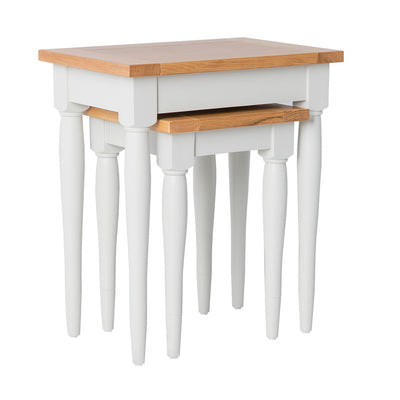 Chichester Ivory Cream Nest of Tables from Roseland Furniture