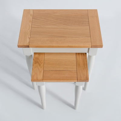 Top view of the Chichester Ivory 2 Nesting Tables