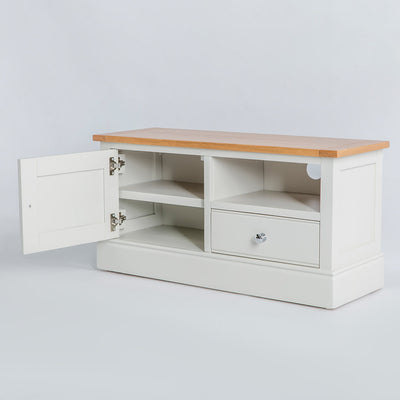 Internal view of the Chichester Ivory Small TV Unit