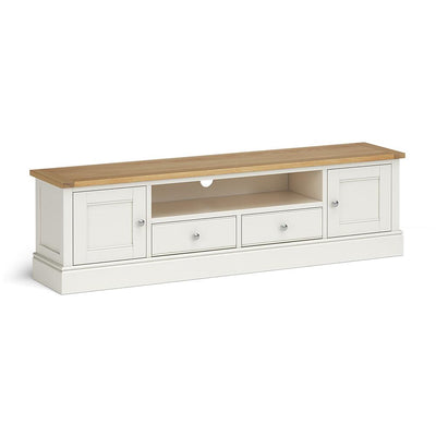 Chichester 180cm TV Stand in Ivory by Roseland Furniture