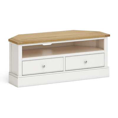 Chichester Corner TV Stand Ivory by Roseland Furniture