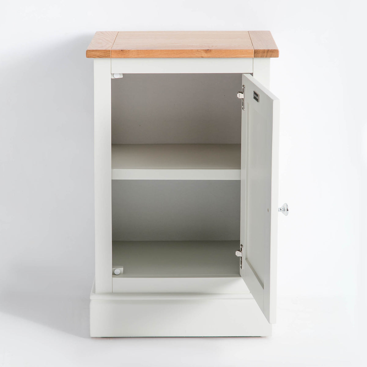 Internal view of the Chichester Ivory Cream Mini Cupboard