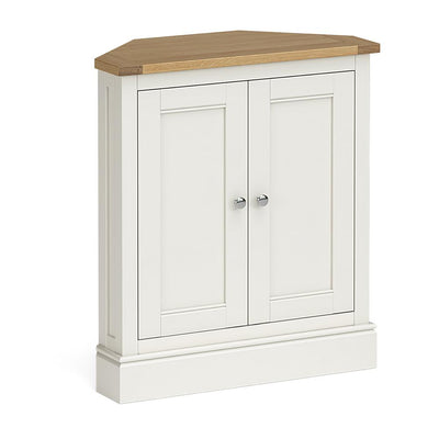Chichester Corner Cupboard in Ivory by Roseland Furniture